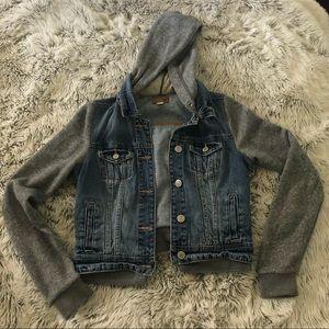 American Eagle Jean / Sweatshirt Jacket